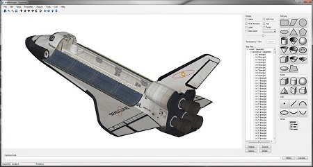Image of Geometry with a space shuttle model